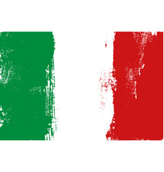 italy colorful brush strokes painted flag vector image