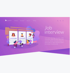 Job interview landing page concept vector