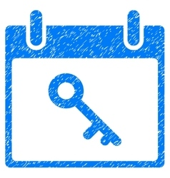Key Calendar Day Grainy Texture Icon vector image