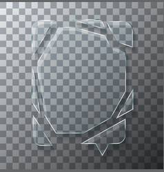 modern concept broken bubble speech glass vector image