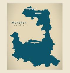 modern map - munich county bavaria de vector image