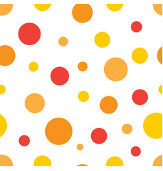 orange red yellow circles seamless background vector image
