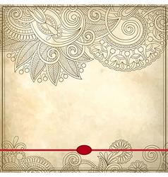 Ornamental floral pattern vector image