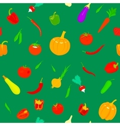 pattern with vegetables vector image