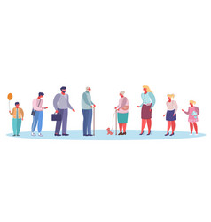 people different ages flat style design vector image