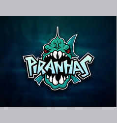 Piranhas emblem logo for sports team vector