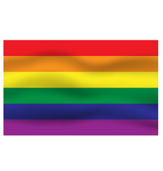 Rainbow flag movement background vector