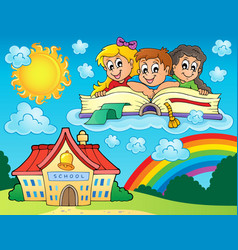 School kids theme image 8 vector