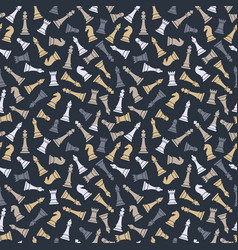seamless pattern with chess on grey vector image