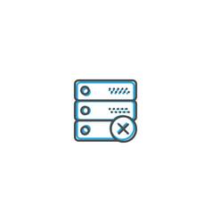 server icon design interaction icon line vector image
