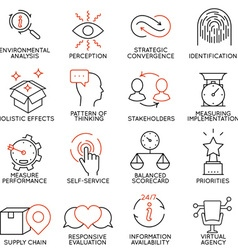 Set of icons related to business management -5 vector