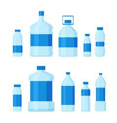 set of plastic bottles empty vector image