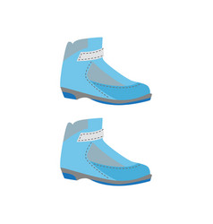 ski boots accessory for extreme ski sport vector image