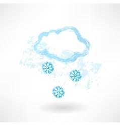 Snowy grunge icon vector image