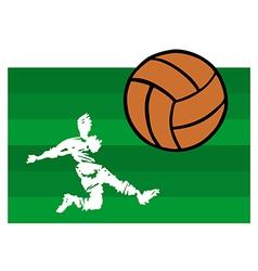 Soccer players big shot vector
