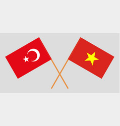 Socialist republic of vietnam and turkey flags vector