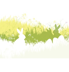 spring easter background vector image