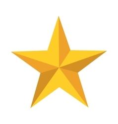 star golden silhouette icon vector image