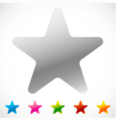 Star icon with thin outline makes it pop out 6 vector