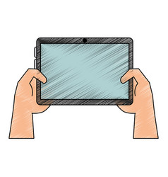 tablet technology isolated vector image