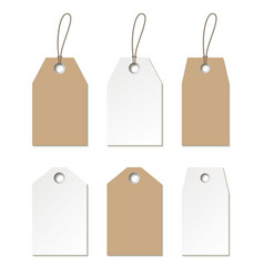 tags mock up set of empty labels templates vector image