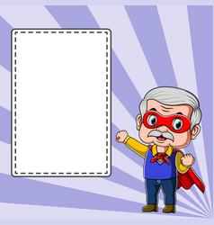 teacher using superhero costume standing vector image