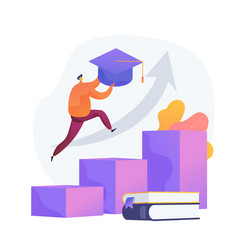 University graduation concept metaphor vector