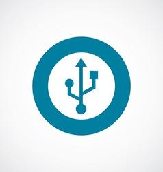 usb icon bold blue circle border vector image