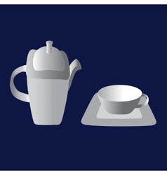 Vintage tea set vector