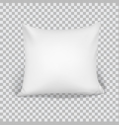 white pillow elements of bedroom home hotel vector image