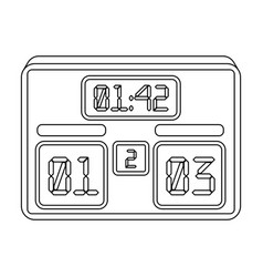 board with a score of footballfans single icon in vector image vector image