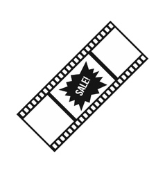 Film strip with sale text icon simple style vector