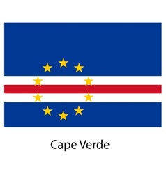 Flag of the country cape verde vector image vector image
