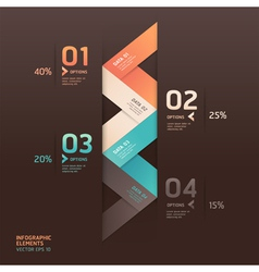Modern arrow infographics origami style vector image