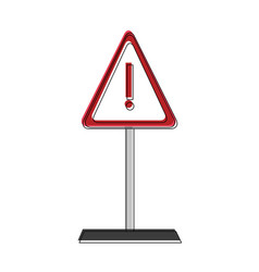 attention sign symbol vector image