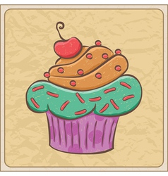 cupcakes03 vector image vector image