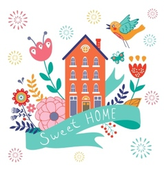 Home sweet home concept vector