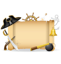pirate concept icons 02 vector image vector image