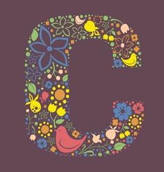 C letter color variant vector image