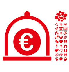 euro standard icon with lovely bonus vector image