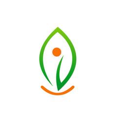 green leaf ecology logo vector image