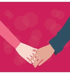 hands holding couple male female fall in love vector image vector image