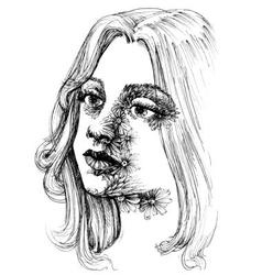 Portrait of a young beautiful woman vector image