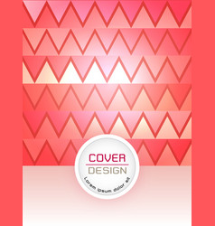 red abstract cover design template vector image vector image