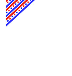 american flag ribbon in the corner frame vector image vector image