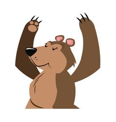 Bear cartoon carnival festival circus image vector
