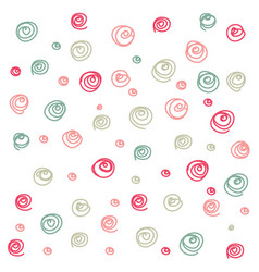 doodle curl seamless pattern vector image vector image