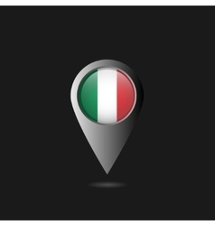 Italy flag pointer vector image