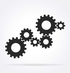 6 gear array cluster assembly vector image