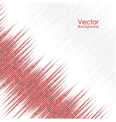 Abstract background with red and gray dots vector